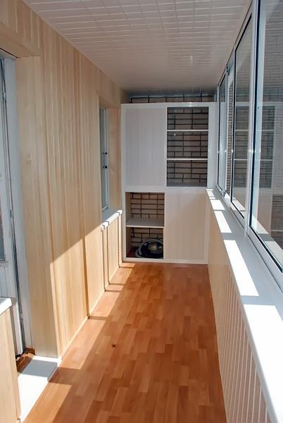 Обустройство балконного пола